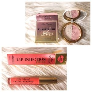 Too Faced Makeup Bundle Candlelight Glow & Lip Inj
